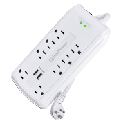CyberPower CSP806U Professional Surge Protector - 8 Outlets-3000 Joules of surge suppression