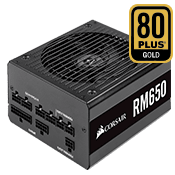 650 Watt - CORSAIR RM650 - 80 PLUS Gold, Fully Modular