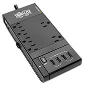 Tripp Lite Surge Protector Power Strip 6-Outlet w/4 USB Charging/Sync Ports