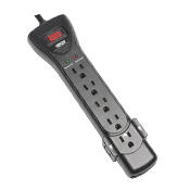 Tripp Lite 7-Outlet Surge Protector, 7 ft. Cord with Right-Angle Plug, Black