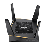 [802.11a/g/n/ac/ax] ASUS RT-AX92U AX6100 Tri-band WiFi 6 Gaming Router-Up to 4804 Mbps, Tri-Bands