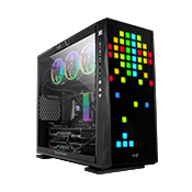 InWin 309 LITE Gaming Case - Black with Addressable RGB LED Front Panel