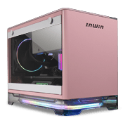 InWin A1 Plus Mini-iTX ARGB Gaming Case - Pink with Wireless Charging Top Panel