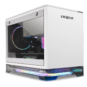 InWin A1 Plus Mini-iTX ARGB Gaming Case - White with Wireless Charging Top Panel