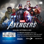 [Receive Game Bundle] - Get the Intel Q3 Avengers Gaming Bundle-w/ Purchase of Intel Core i5/i7/i9