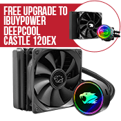 iBUYPOWER 120mm Addressable RGB Liquid Cooling System - Black-Free Upgrade to iBUYPOWER DEEPCOOL GAMERSTORM RGB 120mm CASTLE 120EX Liquid Cooler
