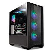 iBUYPOWER Lian Li LANCOOL II Mesh RGB Tempered Glass Gaming Case - Black