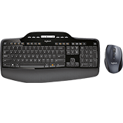 Logitech Wireless Keyboard/Mouse Combo MK710-Advanced 2.4 GHz wireless; Logitech® Incurve keys™
