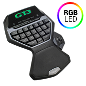 Logitech G13 Advanced Gameboard-LCD GamePanel; 25 programmable/custom RGB backlit keys