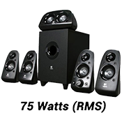 Logitech Z506 5.1 Surround Sound with 3D Stereo Speakers-Ported, down-firing subwoofer; Multi-device connectivity