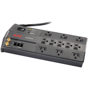 APC SurgeArrest Surge Protector -- 11 outlets, Tel2/Splitter + Coax/Ethernet jacks-3020 Joules of surge protection