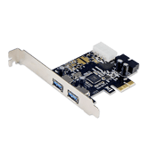 PCI-Express USB 3.0 Expansion Card (2x External Port + 1x Header)