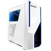 NZXT Phantom 410 Gaming Case-Blue/White