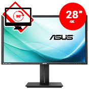 28'' [3840 x 2160] ASUS PB287Q UHD 4K Monitor -- 1ms response time + 60Hz refresh rate-Single Monitor