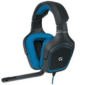 Logitech G430 7.1 Surround Sound Gaming Headset-Dolby® headphone 7.1 surround sound; rotating ear cups