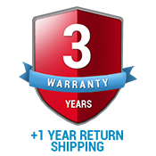 3 Year Standard Warranty + 1 Year Return Ground Shipping Coverage (US ONLY)
