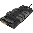 Rosewill RHSP-13006 Power Surge Protector (Black) -- 12 Outlets (8 rotating)-1800 Watts; 4320 Joules of surge protection