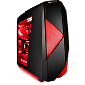 iBUYPOWER Noctis 450 Gaming Case - Red-iBUYPOWER Logo