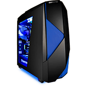 iBUYPOWER Noctis 450 Gaming Case - Blue-iBUYPOWER Logo