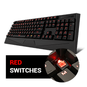 iBUYPOWER MEK Mechanical Gaming Keyboard (Red Switch)-Anti-ghosting; Red backlighting