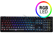 Tt eSPORTS Poseidon Z RGB Mechanical Gaming Keyboard-Cherry MX Brown Switches; 5 custom profiles and lighting effects