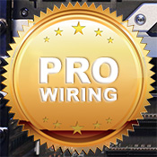Professional Wiring - for all standard default cables inside the system