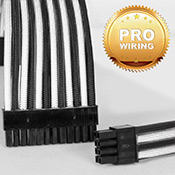 [Black/White] - Sleeved 24-pin Motherboard + 8-pin CPU + VGA Power Extension Cables (Include Professional Wiring)