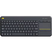 Logitech K400 Plus Wireless Touch Keyboard-Up to 5 million keystrokes; 10-meter (33 ft) 2.4 GHz wireless range