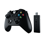 Xbox One Controller + Wireless Adapter for Windows-Redesigned D-pad and Thumbsticks; Ergonomic design