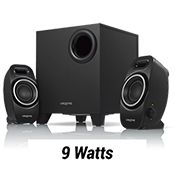 Creative A250 2.1 Speakers System-Largest-in-class, down-firing subwoofer; Dual Slot Enclosure design