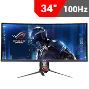 34'' [3440x1440] ASUS ROG SWIFT PG348Q IPS Curved Gaming Monitor w/ Eye Care -- 100Hz 5ms + G-Sync-Single Monitor
