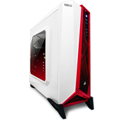 Corsair Carbide Series Spec Alpha Case - White/Red-White/Red