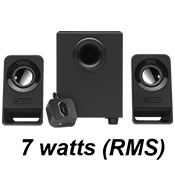 Logitech Z213 2.1 Speaker System-Compact, efficient design; Convenient control pod