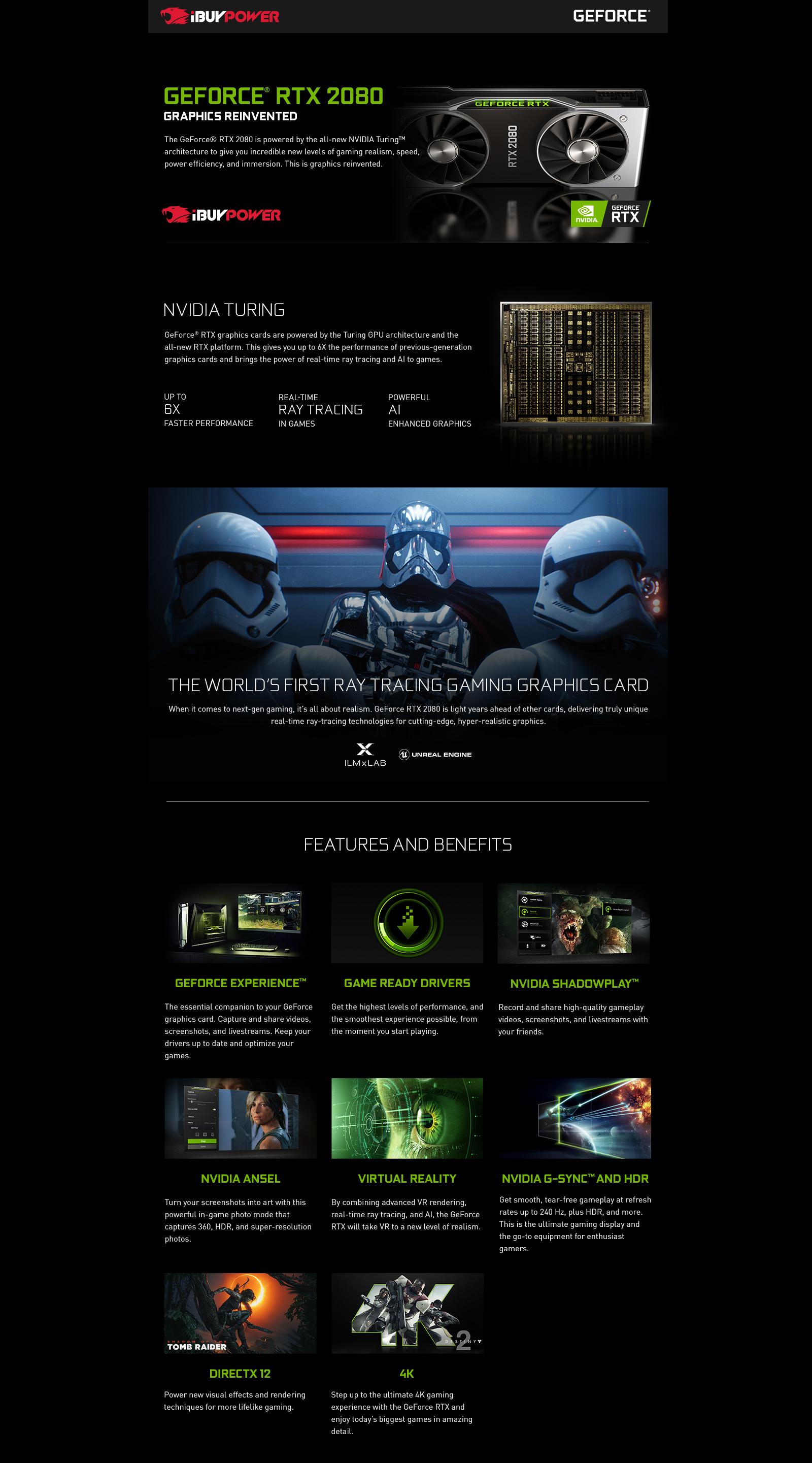 NVIDIA GeForce RTX 2080 Gaming PCs: iBUYPOWER®